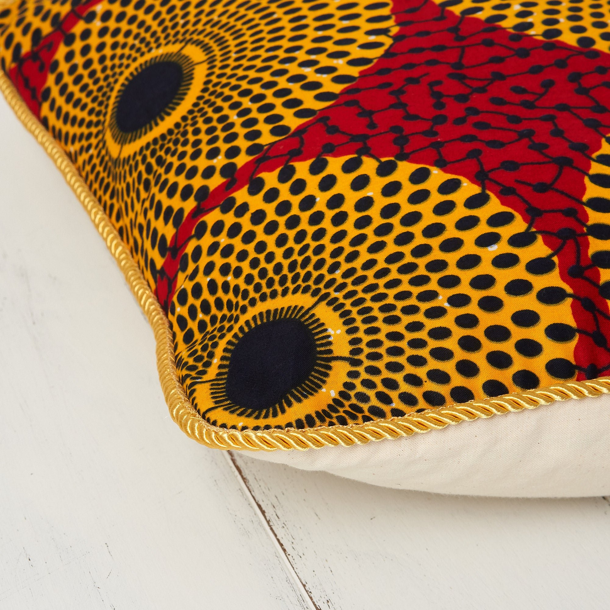 African print pillow cover - Red record print