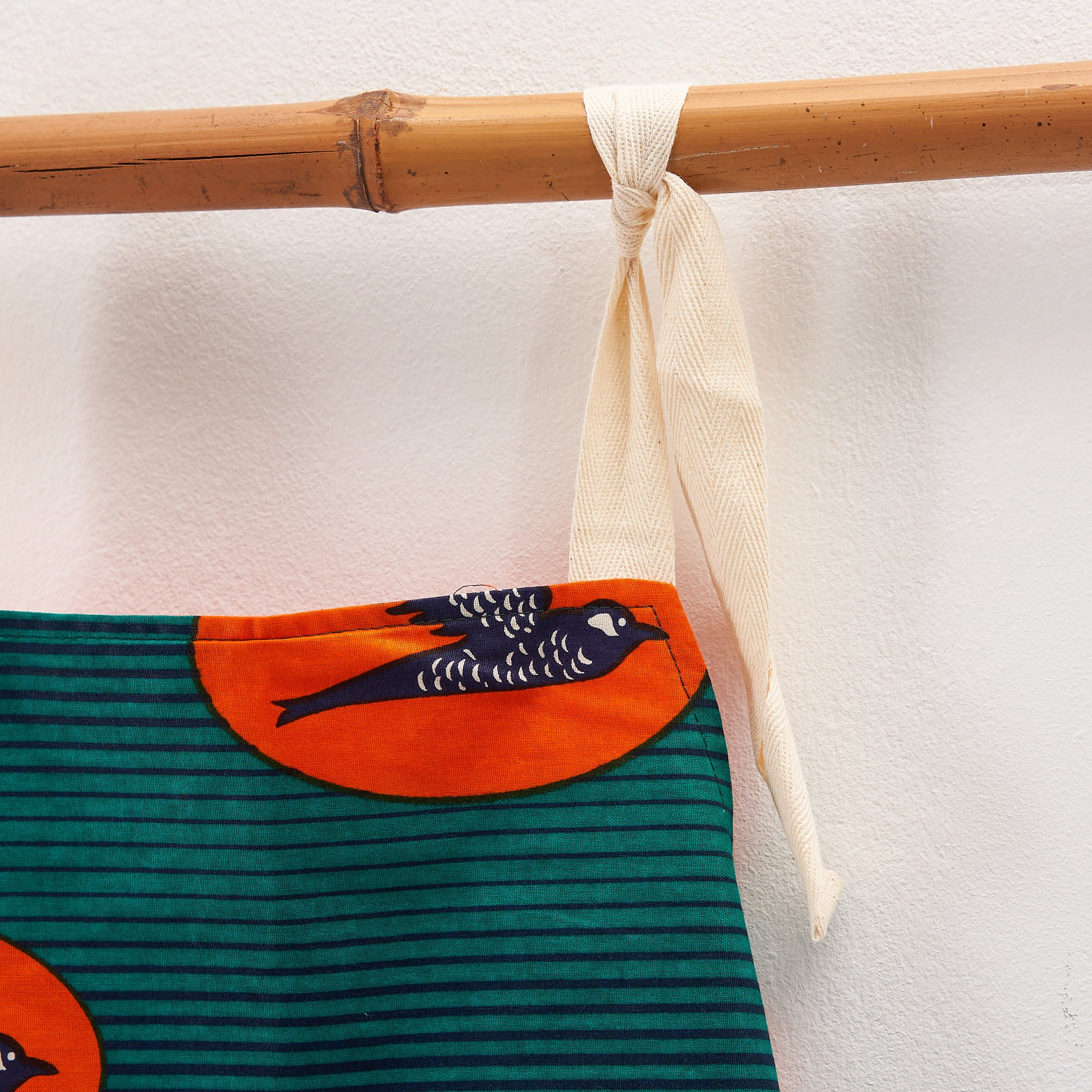 Children's apron - Turquoise orange bird