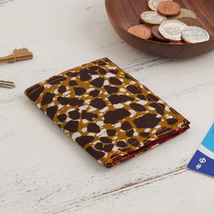 African Print Credit card holder - Red Leopard - Bespoke Binny