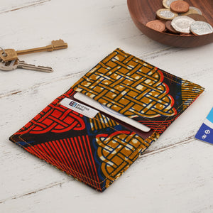 Credit Card Holder - Flame and mustard - Bespoke Binny
