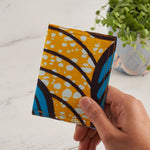 African Print Credit card holder - Lilac and Turquoise