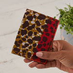 African Print Credit card holder - Red Leopard
