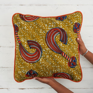 African Pillows - Gold and orange whip - Bespoke Binny