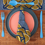 African print napkins set of 4 - Blue Squares