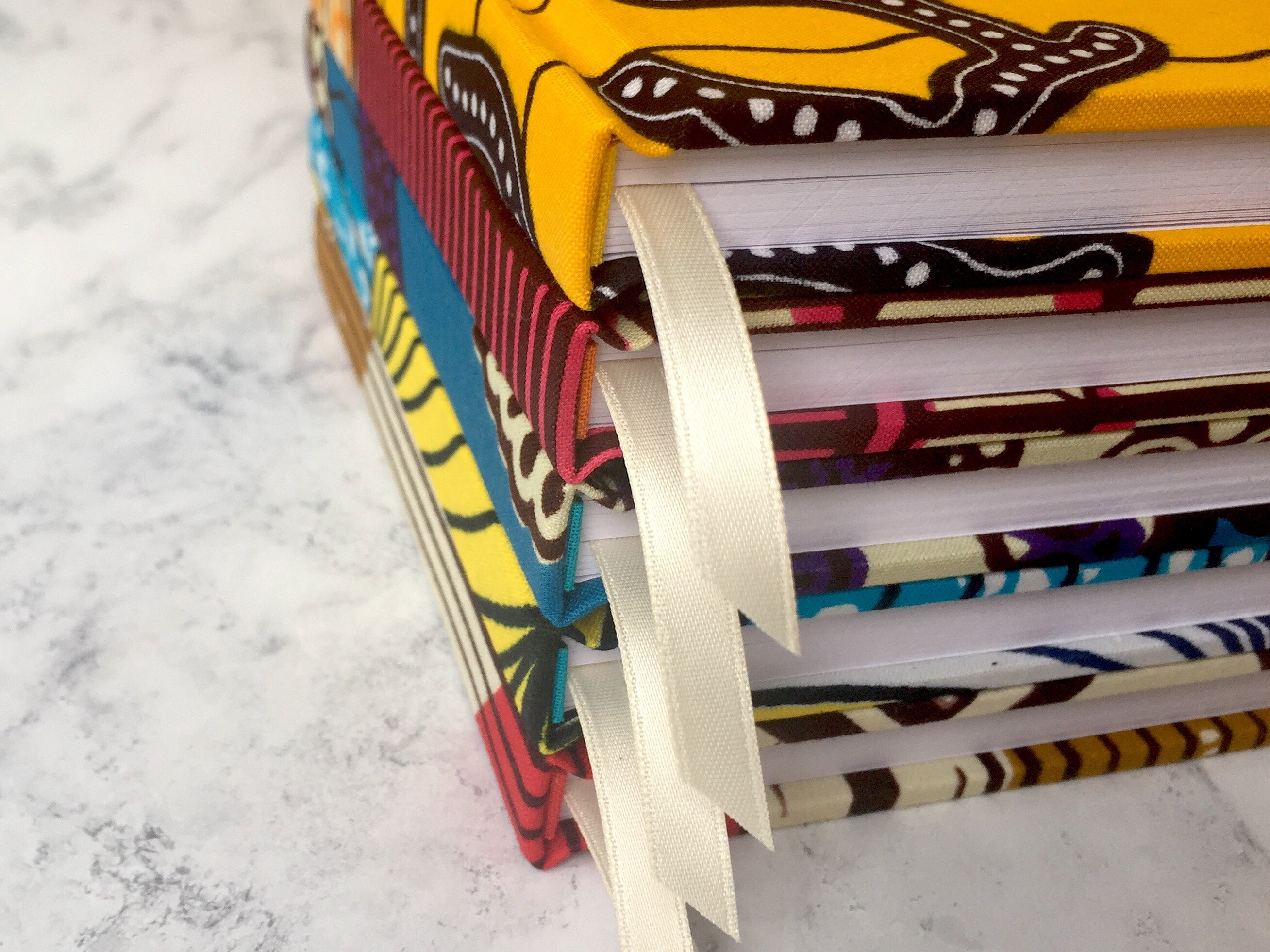 2018 Planner - Blue and Yellow African Print A6 Monthly Diary - Bespoke Binny