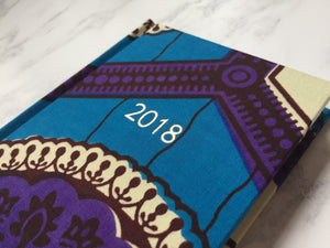 2018 Planner - African Print A6 Weekly Diary
