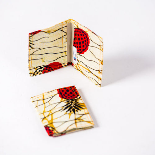 African Print Credit card holder - Red Pineapple