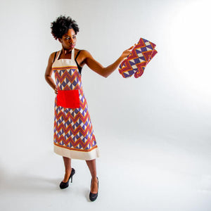 Apron - Purple and red zig zag - Bespoke Binny