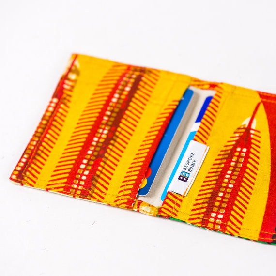 African Print Credit card holder - Yellow Sunrise