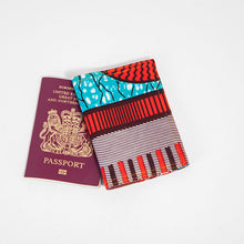 Passport Holder - Red and Cyan