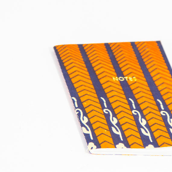 African Print Softbound Notebook -  Navy And Red Floral - Bespoke Binny