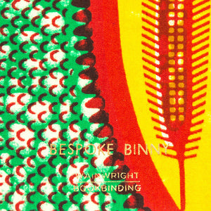 African Print Softbound Notebook - Green, Red, Yellow Shield - Bespoke Binny