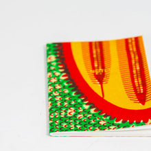 African Print Softbound Notebook - Green, Red, Yellow Shield