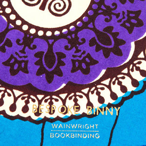 African Print Softbound Notebook -  Blue Hexagon - Bespoke Binny
