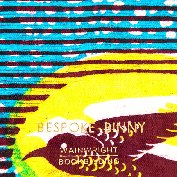 African Print Softbound Notebook -  Blue Speed Bird - Bespoke Binny