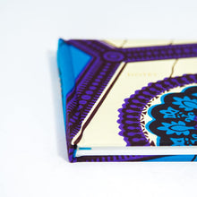 African Print Hardback Notebook - Blue Hexagon - Bespoke Binny