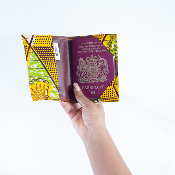 Passport Holder - Green and Yellow Beans - Bespoke Binny