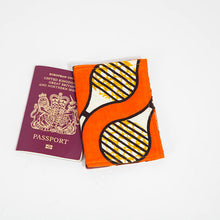 Passport Holder - Orange loops