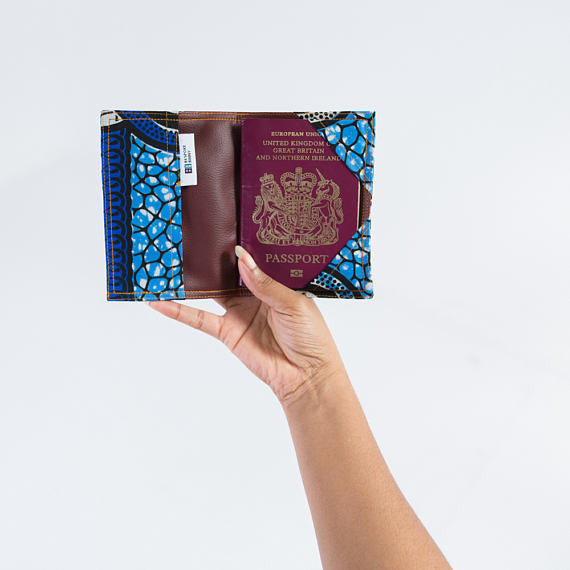 Passport Holder - Blue 8 knot - Bespoke Binny