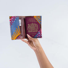 Passport Holder - Blue, Orange and Pink