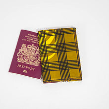 Passport Holder - Olive checked
