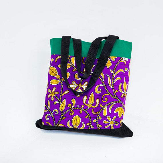 Tote bag - Purple flowers - Bespoke Binny