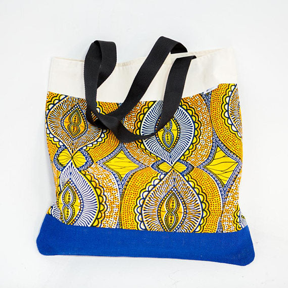 Tote bag - Yellow Abstract - Bespoke Binny