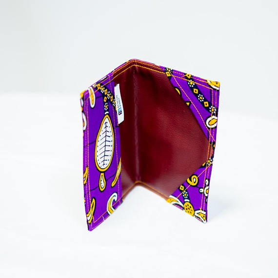 Passport Holder - Purple flowers - Bespoke Binny