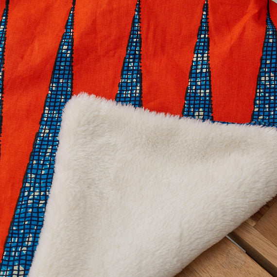 African print blanket - Burnt Orange Zig - Bespoke Binny