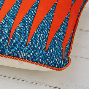 African Print Pillow  - Burnt Orange - Bespoke Binny