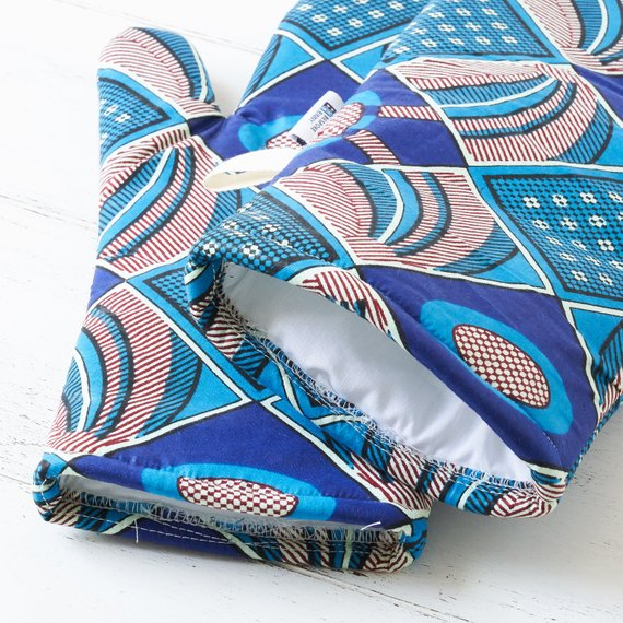 Oven Gloves - Blue Burst - Bespoke Binny