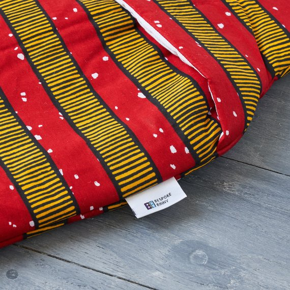 African print hot water bottle cover - Red stripes