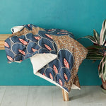 African print throw blanket -  Marina peacock - Bespoke Binny