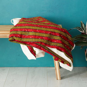 African print throw blanket - Red stripes