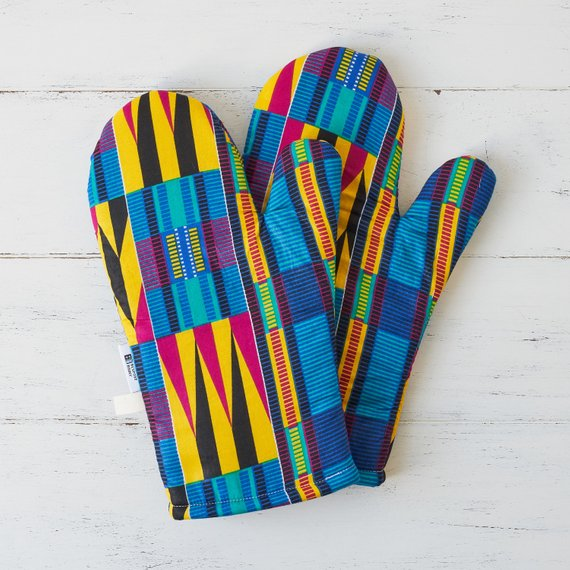 Oven gloves - Purple Kente - Bespoke Binny