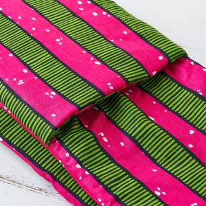 Double oven glove - Pink stripes