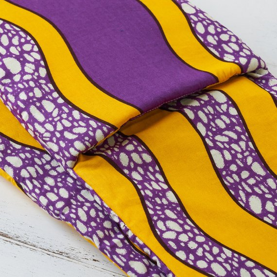 Double oven glove - Purple waves