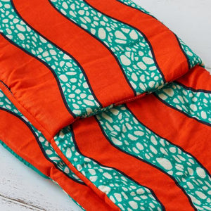 Double oven glove - Orange waves