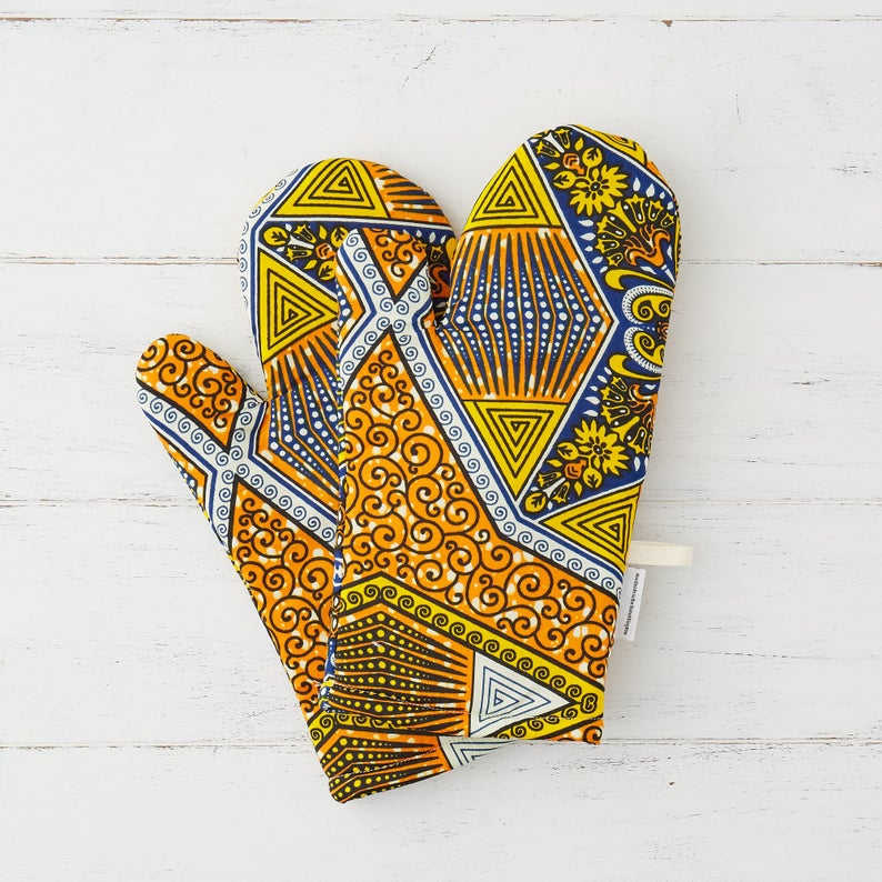 Oven mitt - Sunshine diamonds - Bespoke Binny