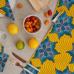 African Print Table Runner - Yellow Marine