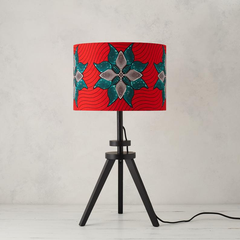 Lampshade -  Coral Turquoise - Bespoke Binny