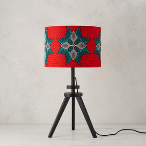 Lampshade -  Coral Turquoise