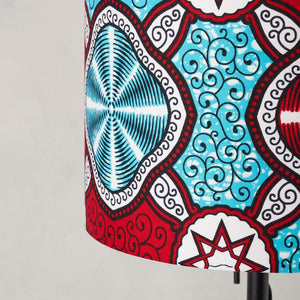 Lampshade African Wax Print - Red Marine