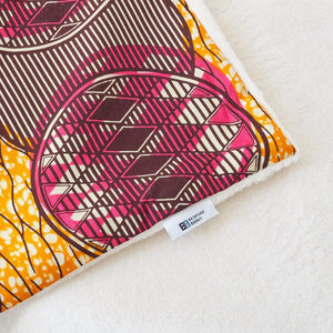 African print throw blanket - Pink Ripple - Bespoke Binny