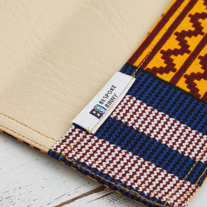 Card holder African print - Blue yellow kente