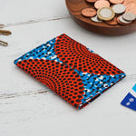 Card holder African print -  Red blue record