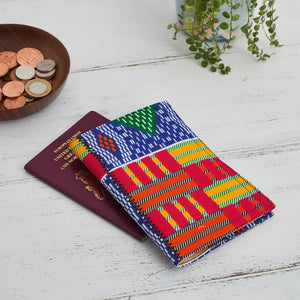 Passport Holder - Multi coloured kente