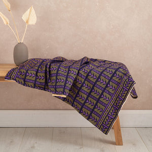 African print throw blanket - Purple aztec