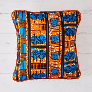 African print pillow - Blue sanctity cushion