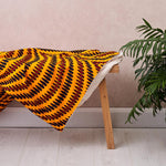African print throw - Yellow droplets blanket